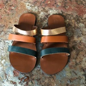 Ikwetta Leather Sandals 39 Hand Made Fair Trade